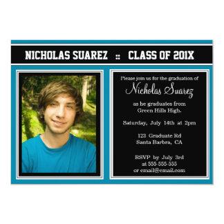 Anúncio feito sob encomenda azul da graduação da convites personalizados