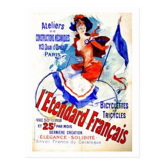 Anúncio francês Chéret da bicicleta da época do Cartão Postal