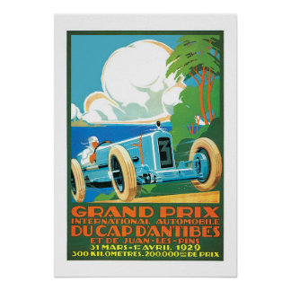 Anúncio francês grande da auto competência de Prix Poster