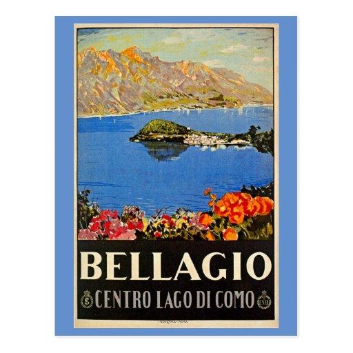 Anúncio italiano do viagem de Bellagio do 1920 do  Cartões Postais