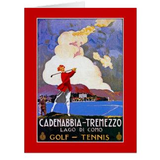 Anúncio italiano do viagem do golfe de Como do Cartão Comemorativo Grande