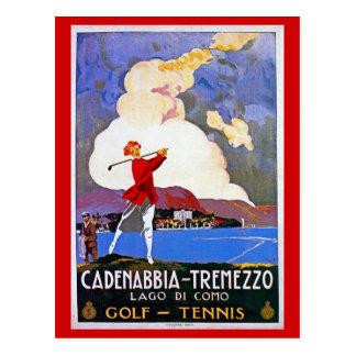 Anúncio italiano do viagem do golfe de Como do Cartão Postal