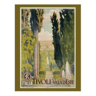 Anúncio italiano Tivoli Lazio Roma do viagem do Cartão Postal
