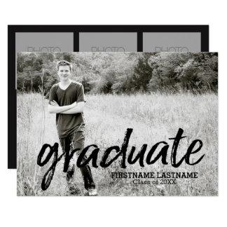 Anúncio na moda da graduação com 4 fotos