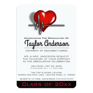 Anúncio na moda da graduação da Faculdade de Convite 12.7 X 17.78cm