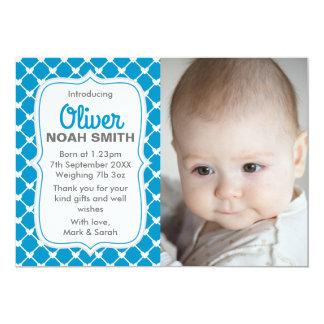 Anúncio novo/cartões de agradecimentos do bebé convite 12.7 x 17.78cm