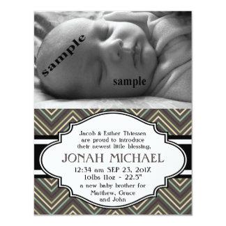 Anúncio novo do nascimento do bebé ou da menina de convite 10.79 x 13.97cm