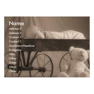Anúncio ou negócio do bebê cartão de visita grande