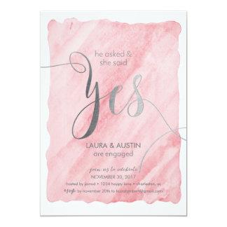 Anúncio que da festa de noivado disse sim convite 12.7 x 17.78cm