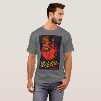 Anúncio retro da vodca do estilo do russo do t-shirt