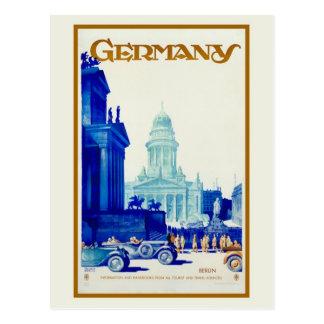 Anúncio retro do viagem de Berlim Alemanha do Cartão Postal