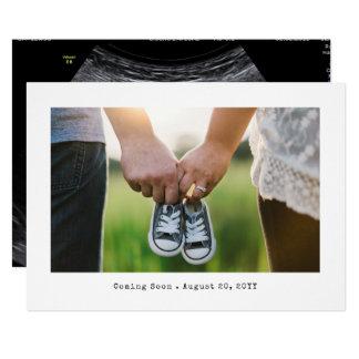 Anúncio simples da gravidez da foto convite 12.7 x 17.78cm