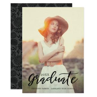 Anúncio simplesmente à moda da graduação da foto convite 12.7 x 17.78cm