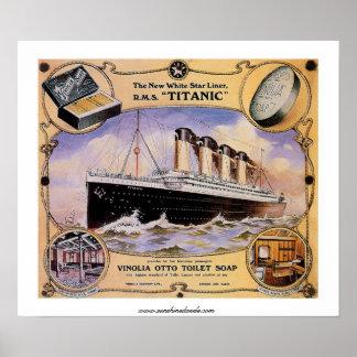 Anúncio titânico do sabão do vintage do RMS Poster
