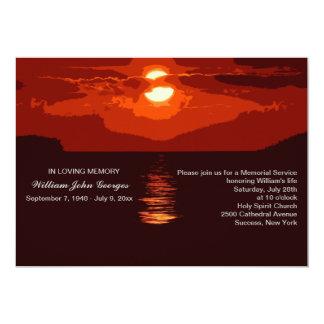 Anúncio vermelho da cerimonia comemorativa do por convite 12.7 x 17.78cm