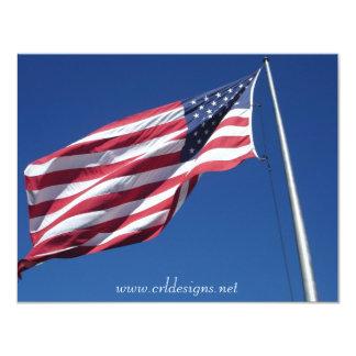 Anúncios da bandeira americana convite 10.79 x 13.97cm