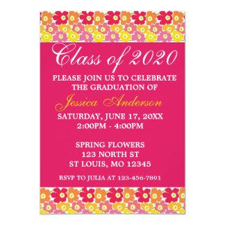 Anúncios personalizados da graduação do primavera convite 12.7 x 17.78cm