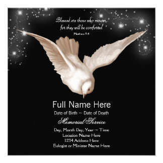 Anúncios pretos da cerimonia comemorativa da pomba convites