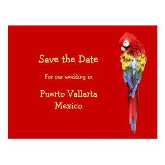 Anúncios vermelhos exóticos do casamento do cartão postal