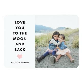 Ao cartão com fotos do dia dos namorados da lua | convite 12.7 x 17.78cm