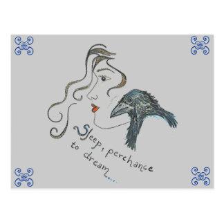 """""""Ao sonho """" Cartão Postal"""