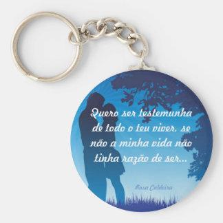 Apaixonados Azul Chaveiro