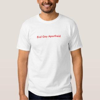 Apartheid do gay da extremidade t-shirts