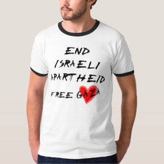 Apartheid do israelita da extremidade t-shirt