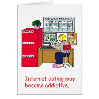 Apego do namorando do Internet Cartão