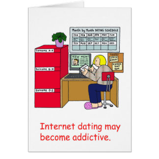 Apego do namorando do Internet Cartão Comemorativo