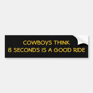 Apenas 8 segundos, vaqueiros? adesivo para carro