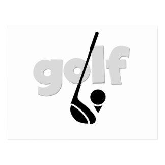 Apenas camiseta e presentes do golfe cartão postal