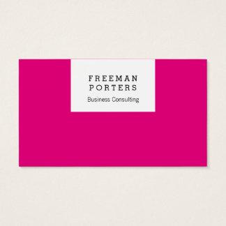 Apenas claro e rosa! cartão de visitas