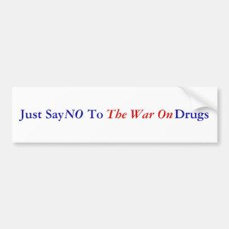 Apenas diga                            às drogas,  adesivo para carro
