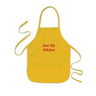 Apenas minha cozinha avental infantil