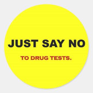 apenas-palavra-nenhum-à-droga-testes adesivo