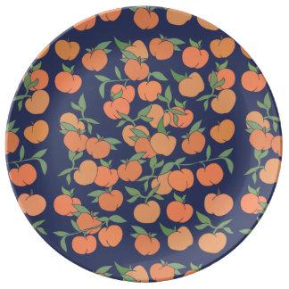 Apenas pêssegos Peachy Prato De Porcelana