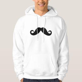 apenas um hoodie do bigode moletom com capuz