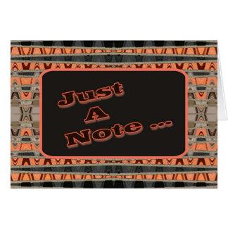 apenas uma nota cartão
