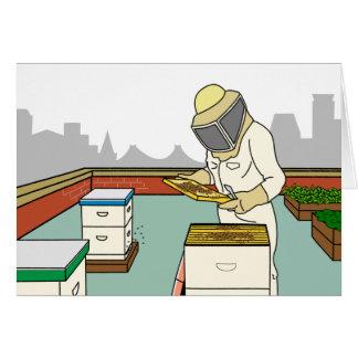 Apicultor do telhado - cartão