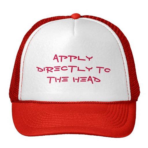 Aplique à cabeça - chapéu bonés