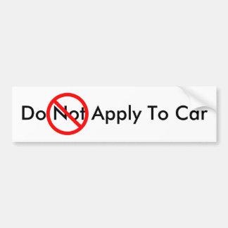 Aplique ao carro adesivo para carro