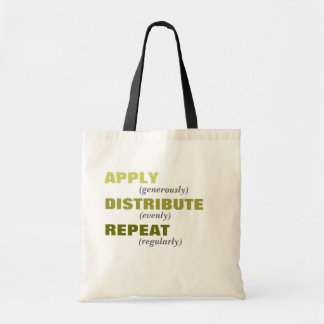 Aplique, distribua, repita bolsas de lona