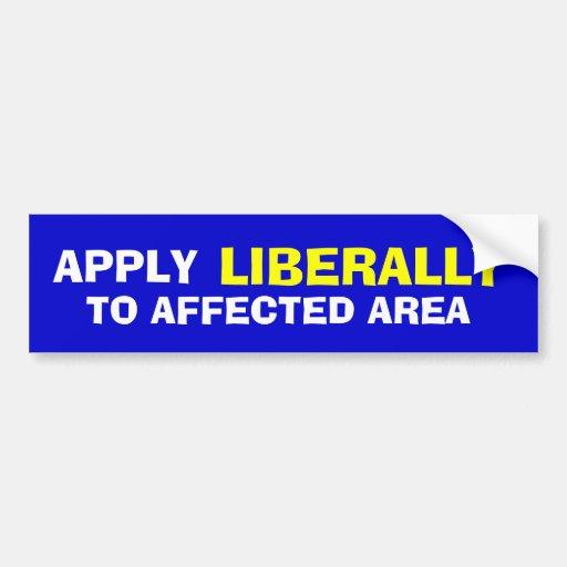 Aplique liberalmente adesivo