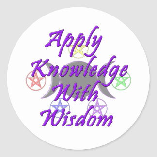 Aplique o conhecimento com sabedoria adesivo