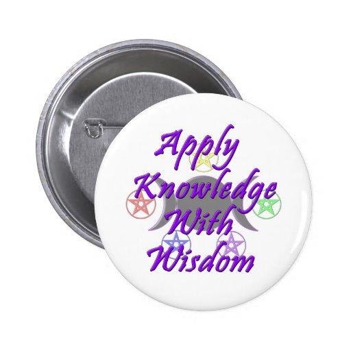 Aplique o conhecimento com sabedoria botons