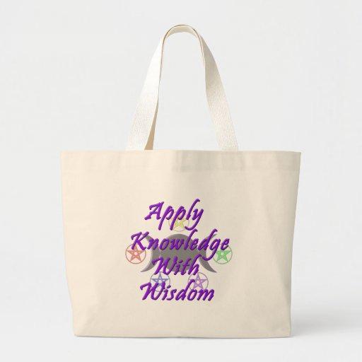 Aplique o conhecimento com sabedoria bolsas para compras