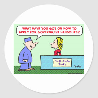 aplique para comunicados do governo adesivos redondos