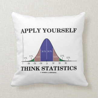 Aplique-se pensam estatísticas (o humor da curva almofada