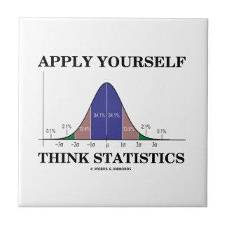 Aplique-se pensam estatísticas (o humor da curva azulejo quadrado pequeno